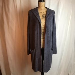 NWT Barefoot Dreams Cozy Chic Relaxed Hooded Cardi